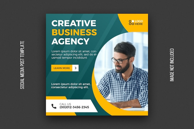 Digital agency social media post template