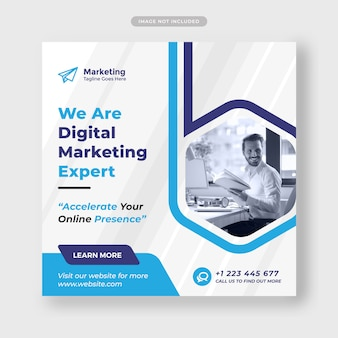 Digital agency template for social media post
