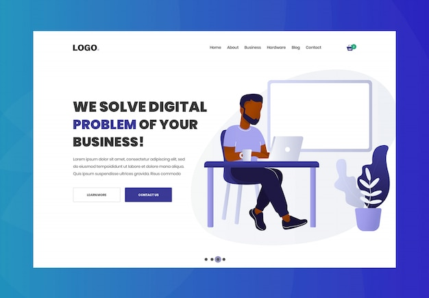 Digital agency website header design