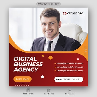 Digital business agency banner template