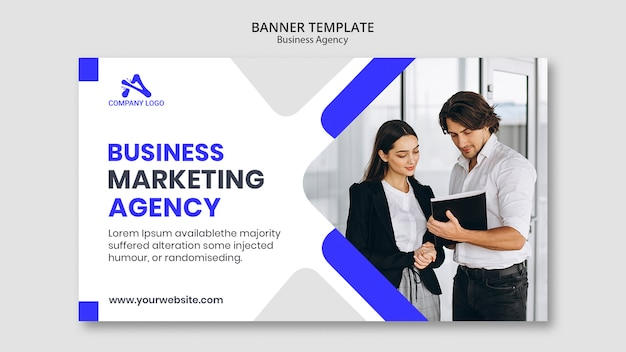 Digital business marketing banner template