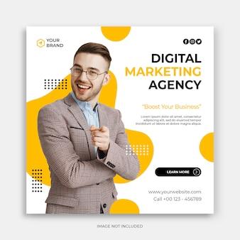 Digital business marketing instagram post or ads banner template