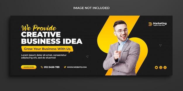График продвижения цифрового бизнеса и маркетинга корпоративная обложка в facebook и шаблон обложки для социальных сетей