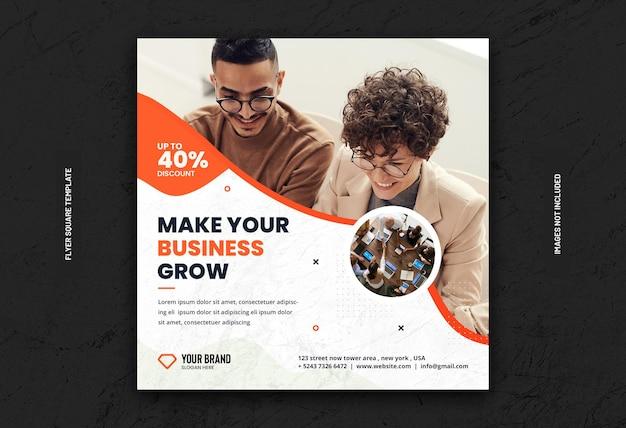 Digital business marketing social media banner or square flyer