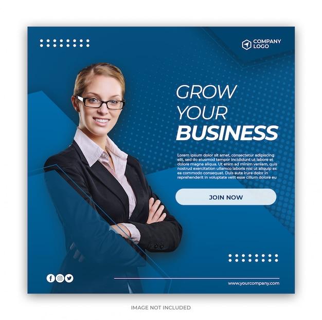 Digital business marketing social media banner square