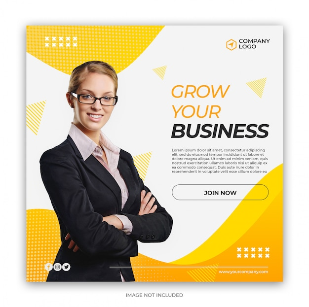 Digital business marketing social media banner square