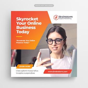 Digital business marketing social media post banner & square flyer