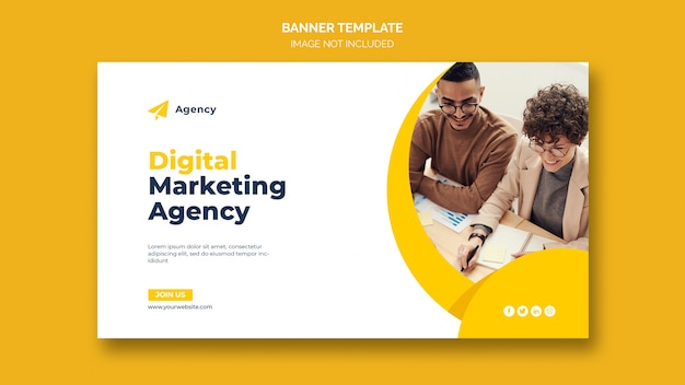 Digital business marketing web banner template