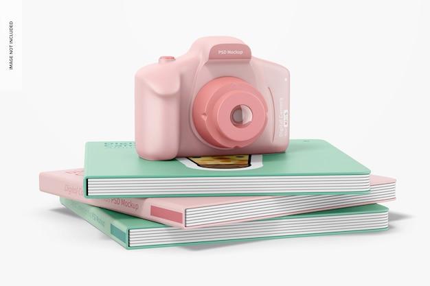 Digital camera for kids mockup, perspective