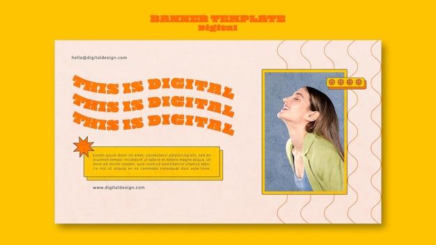 Digital concept banner template