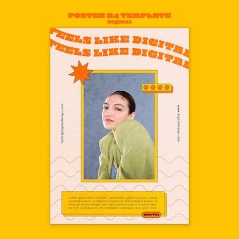 디지털 컨셉 포스터 템플릿