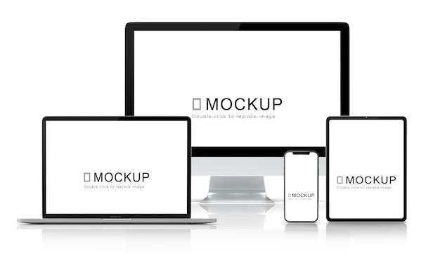 Digital device mockup set