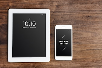 Digital devices screen mockup template