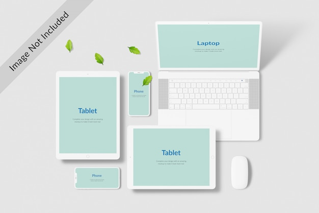 Digital devices screen mockup
