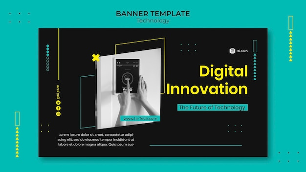 Шаблон баннера цифровых инноваций