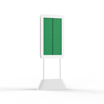 Digital kiosk mockup - half side vie