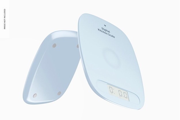 Digital kitchen scale mockup, floating