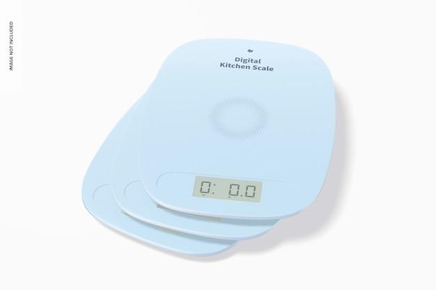 Мокап цифровых кухонных весов