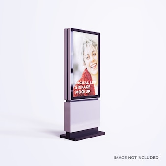 Digital led signage advertising mockup