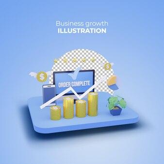 Цифровой маркетинг 3d рендеринг международный экономический дизайн плаката
