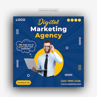 디지털 마케팅 대행사 및 기업 소셜 미디어 포스트 템플릿 디자인