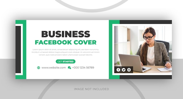 Digital marketing agency business facebook cover page template