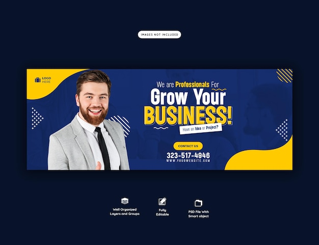 Digital marketing agency and corporate facebook cover template