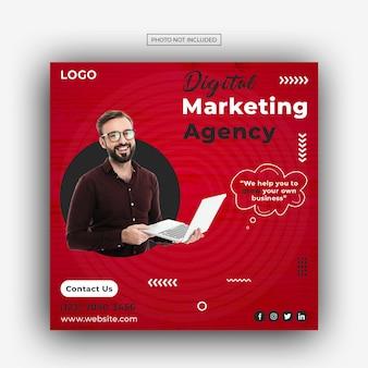 Digital marketing agency and corporate social media post template design