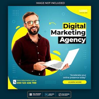 Digital marketing agency and corporate social media post template Premium Psd