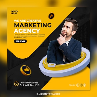 Digital marketing agency and corporate social media post template