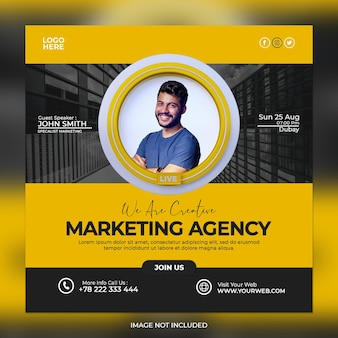 Digital marketing agency and corporate social media post
