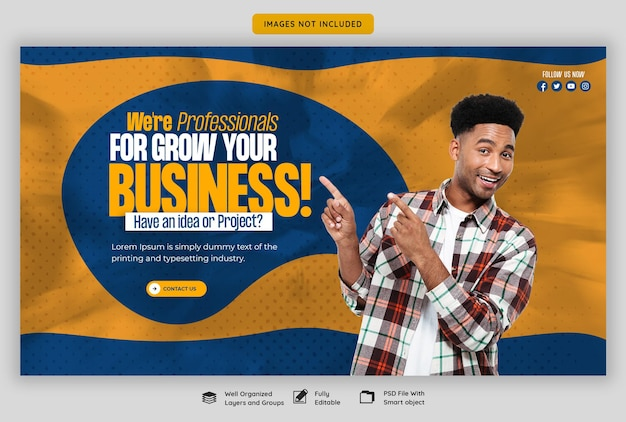 Digital marketing agency and corporate web banner template