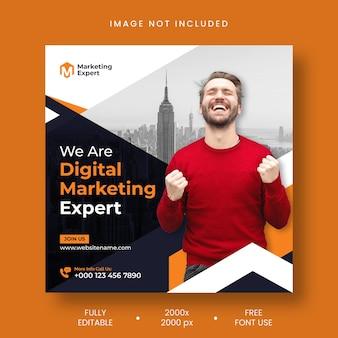 Digital marketing agency instagram post and social media banner template