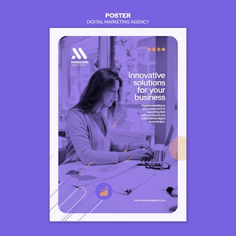 Digital marketing agency poster template