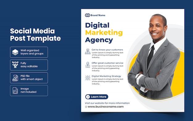 Digital marketing agency social media banner template