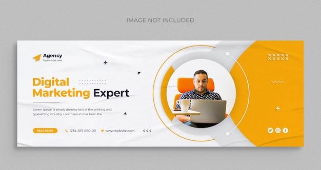 Агентство цифрового маркетинга социальные сети instagram веб-баннер или шаблон обложки facebook