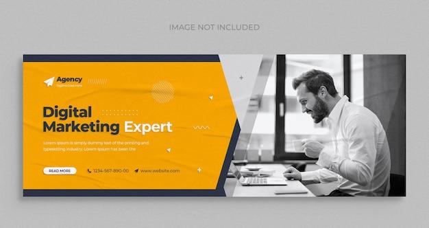 Агентство цифрового маркетинга в социальных сетях instagram веб-баннер или квадратный флаер шаблон