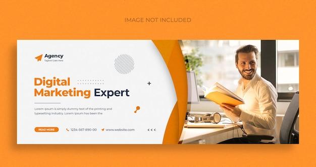 Digital marketing agency social media instagram web banner or square flyer template