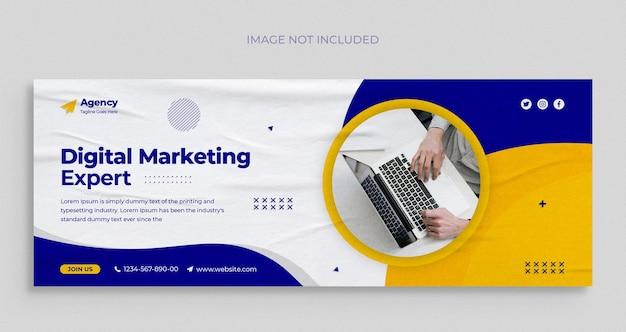 Digital marketing agency social media instagram web banner template
