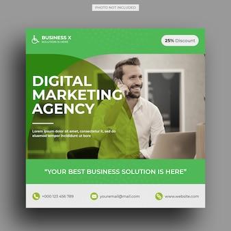 Digital marketing agency social media post template