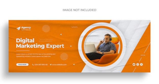 Агентство цифрового маркетинга в социальных сетях, веб-баннер, флаер и шаблон оформления обложки для facebook