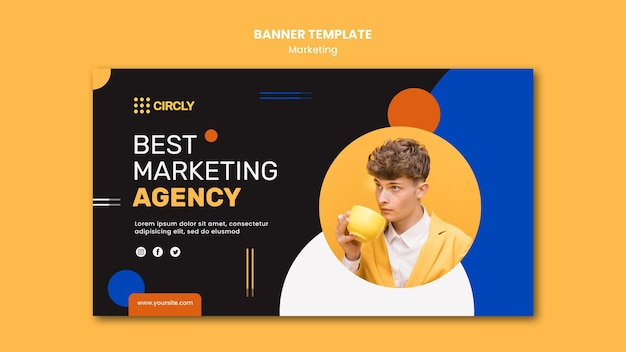 Digital marketing banner template