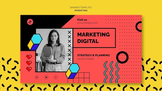 Digital marketing banner template