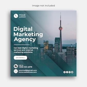 Digital marketing business banner or corporate social media banner and instagram post