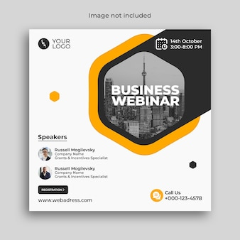 Digital marketing business webinar conference banner