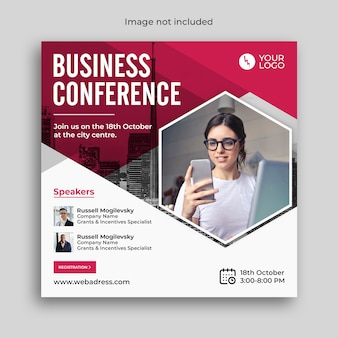 Digital marketing business webinar conference banner