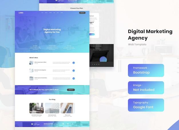 디지털 마케팅 회사 및 비즈니스 웹사이트