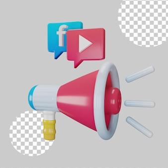 Концепция цифрового маркетинга 3d иллюстрация