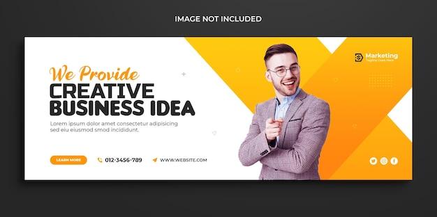 Цифровой маркетинг корпоративная обложка facebook хронология веб-баннер и обложка в социальных сетях templatete