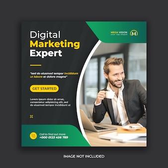 Digital marketing corporate instagram social media post template